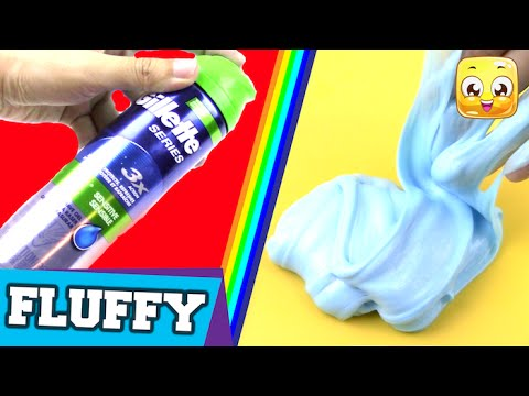 How To Make Fluffy Slime With SHAVING GEL DIY Without Borax or Liquid Starch, Detergent