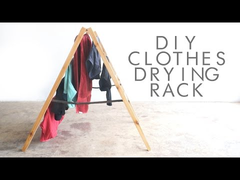 DIY Foldable Clothes Drying Rack | Modern Builds | EP. 36