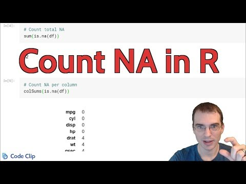 Count NA in R