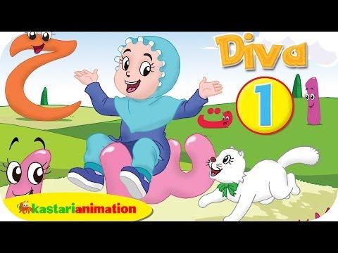 Menghafal Huruf Hijaiyah Bersama Diva 1 - Kastari Animation Official