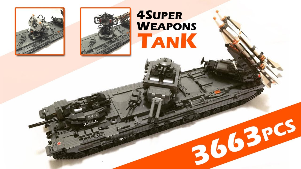 lego fan 39 s kv 6 tank by xingbao youtube. Black Bedroom Furniture Sets. Home Design Ideas