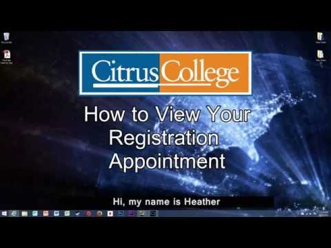 View Registration Appointment