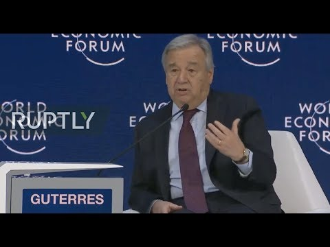 LIVE: UN Sec-Gen Antonio Guterres addresses WEF 2020 in Davos
