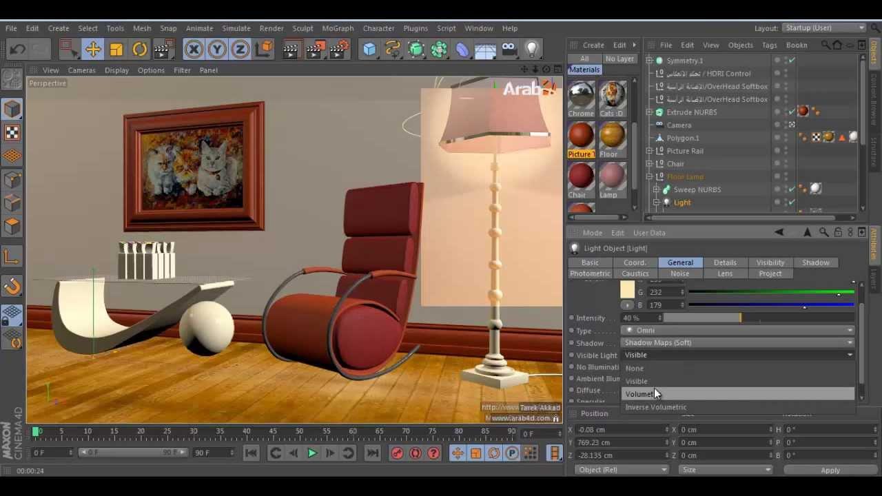 interior scene tutorial cinema 4d youtube. Black Bedroom Furniture Sets. Home Design Ideas