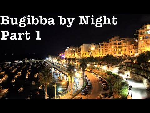 Buġibba by Night -  St.Paul's Bay Malta Travel Video