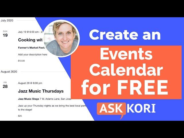 Create an Events Calendar on Your WordPress Website - Free Plugin