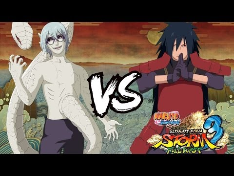 Sage Mode Kabuto vs Madara Uchiha : Naruto Shippuden Ultimate Ninja Storm 3 Full Burst