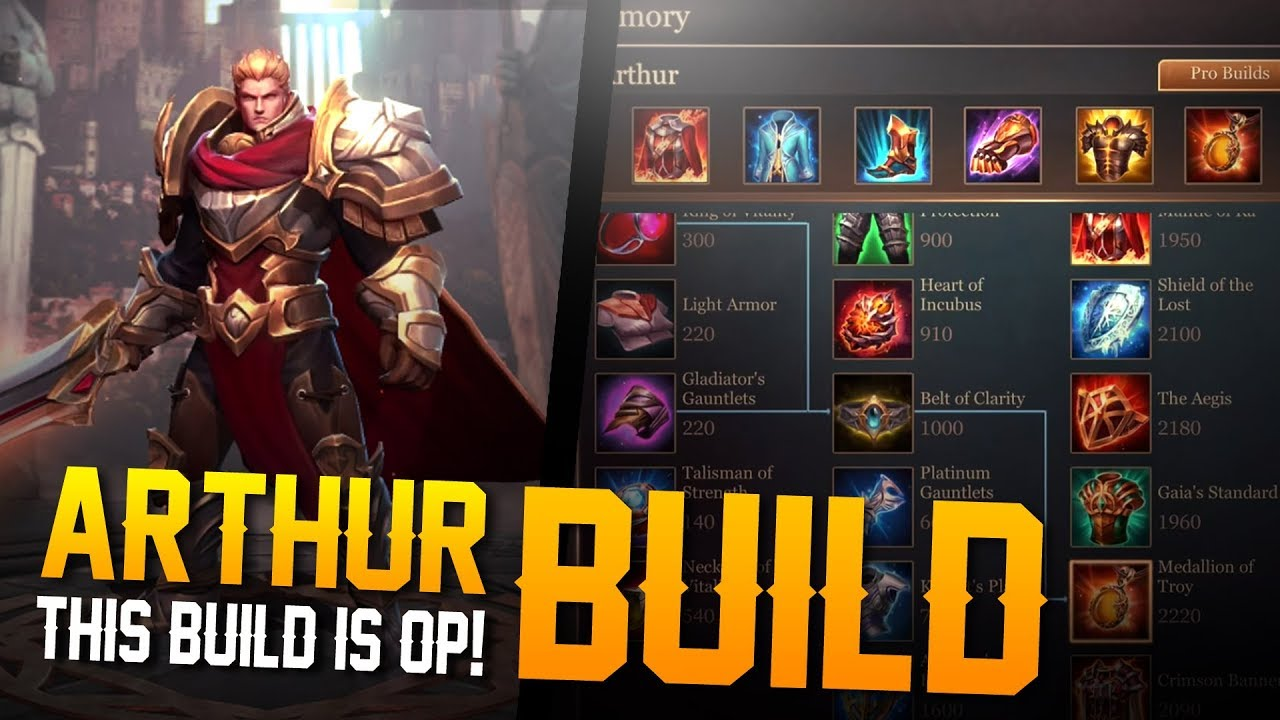 Arena Of Valor Builds This Build Is Amazing Arthur Best Build Gameplay