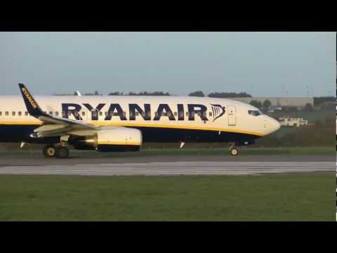Ryanair Boeing 737-800 - Stunning Winter Sunlight Takeoff @Cork Airport
