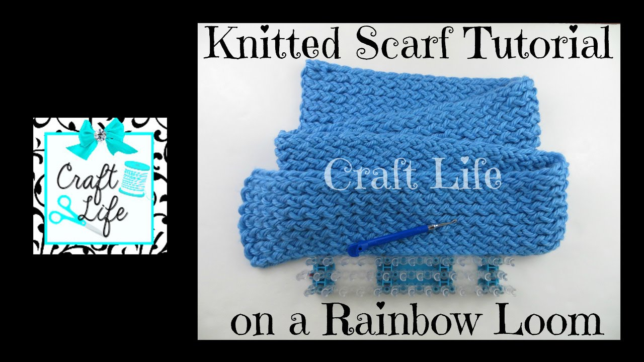 Craft Life Knitted Scarf Tutorial on a Rainbow Loom or a ... Rainbow Loom Mini Purse Craft Life