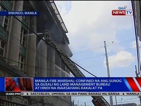Manila Fire Marshal: Confined na ang sunog sa gusali ng Land Management Bureau