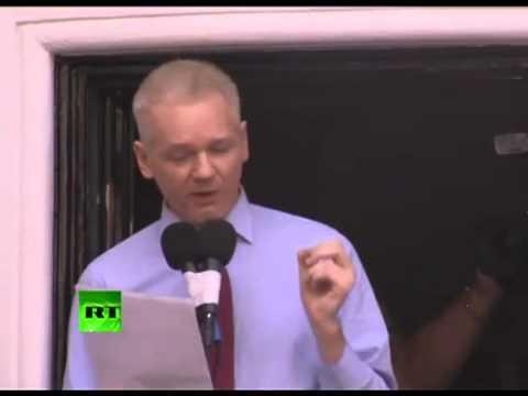Julian Assange: Ecuadorian Embassy-FULL SPEECH
