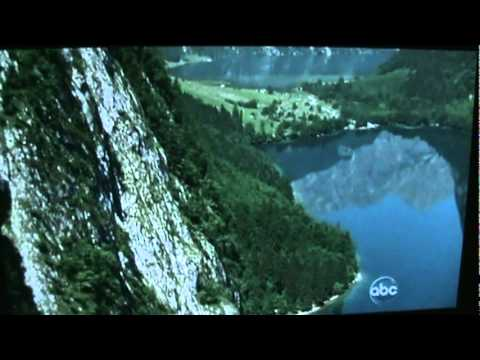 The scenery at the beginning of the Sound of Music