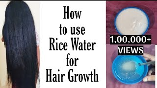 3 ways to use Rice water for Extreme Hair Growth in tamil DIY Rice Hair mask VINI S HAIR CARE