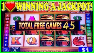 I ❤ WINNING A JACKPOT WITH ONLY 45 FREE SPINS ON KONAMI HIGH LIMIT SLOTS