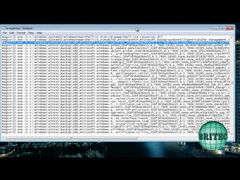 Fix Windows Errors by Re-registering All Your DLL's by Britec