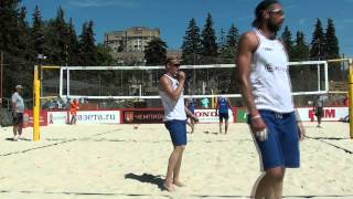 23 Beach Volleyball EEVZA 2015 Russia Semifinal Men Leshukov-Likholetov and Denin-Plotnytskiy