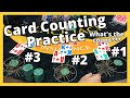 Blackjack CARD COUNTING Practice - Three Hand Special - Part 1