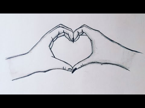 How To Draw Two Hands Making A Heart