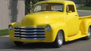 1952  blown  chevy pro street pick up