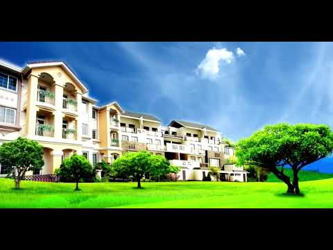 City villa with beautiful scenery photography background