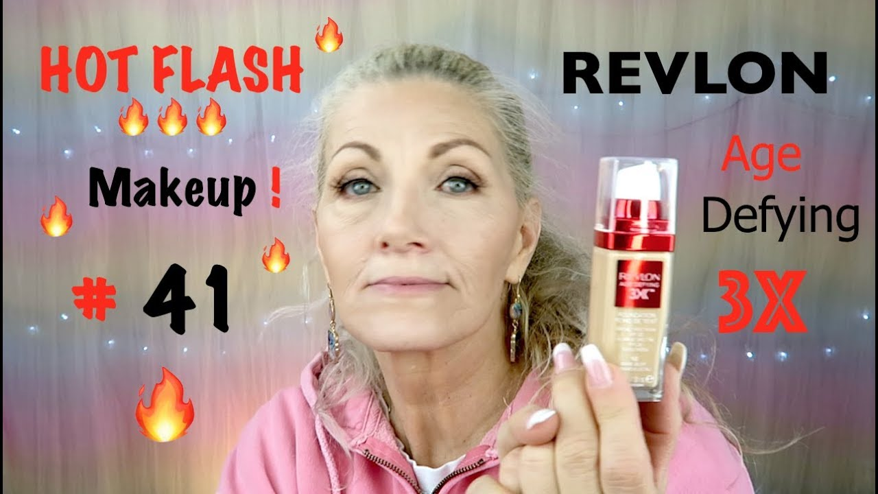 HOT FLASH Makeup! #41 - REVLON Age Defying 3X Foundation ...