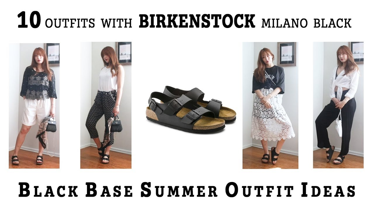 10 SUMMER OUTFITS WITH BIRKENSTOCK MILANO BLACK | OUTFIT IDEAS | AERIN 2