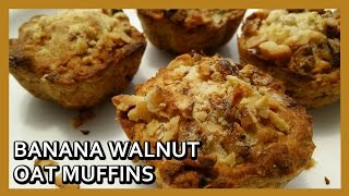Banana Walnuts Oats Muffins Recipe | Philips Airfryer Recipes | Airfryer Dessert By Healthy Kadai