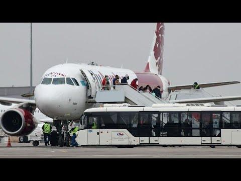 Приземление первого самолёта в аэропорту Туркестана! Исторический момент!
