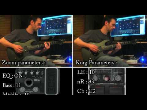 Bullet For My Valentine Guitar Tone Zoom G2 1u Korg Ax3g Demo