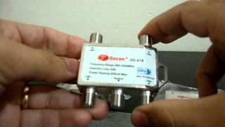 Vendo Chave DiSEqC 4x1 Gecen GD-41B -  950-2400 MHz