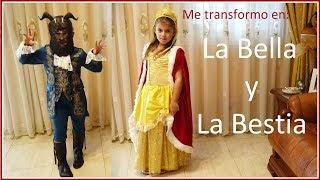 ME TRANSFORMO EN LA BELLA Y LA BESTIA Y MIRA LOS RESULTADOS - MI DISFRAZ DE LA BELLA Y LA BESTIA