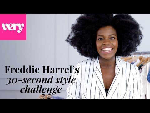 Freddie Harrel's 30-second wedding outfit challenge | Very Inspired