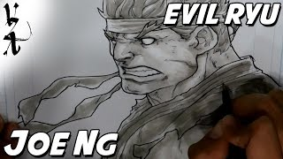 Joe Ng (@trickydigits) drawing Evil Ryu