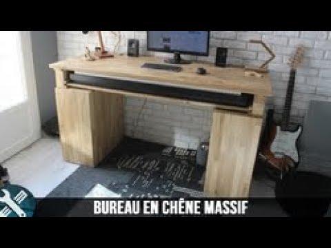 Bricolage Vlogs - Fabrication d'un bureau en chêne massif