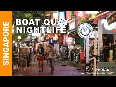 What is BOAT QUAY in Singapore? Singapore travel video - Singapore Travel Vlog