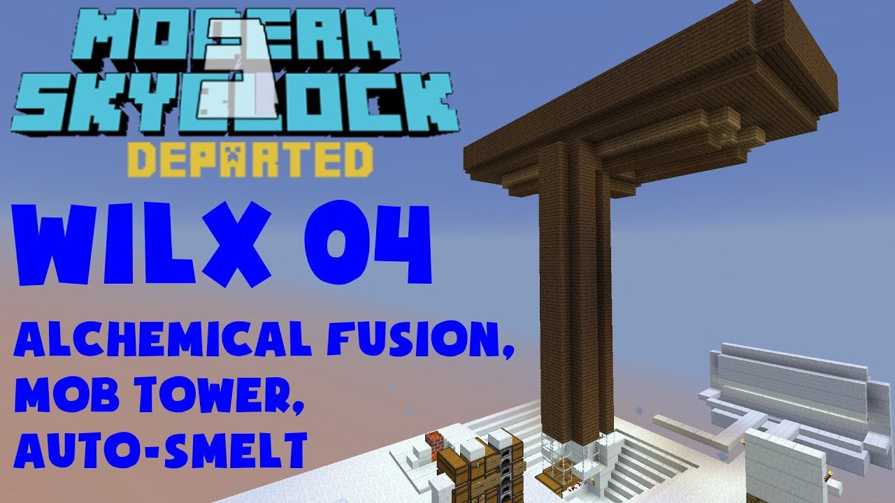 04 - Mob Tower, Auto-Smelt, Alchemical Fusion - Modern Skyblock 3