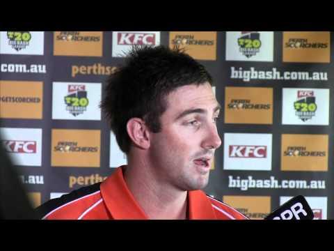 Shaun Marsh chats to the media