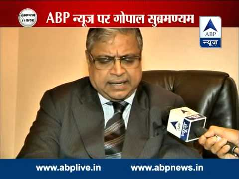 Interview with senior advocate Gopal Subramanium