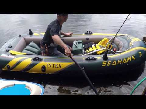 Intex Seahawk 3-Person Inflatable Boat - YouTube