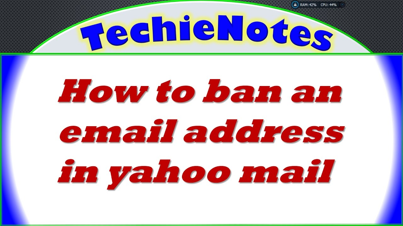 how to cancel an email address on yahoo