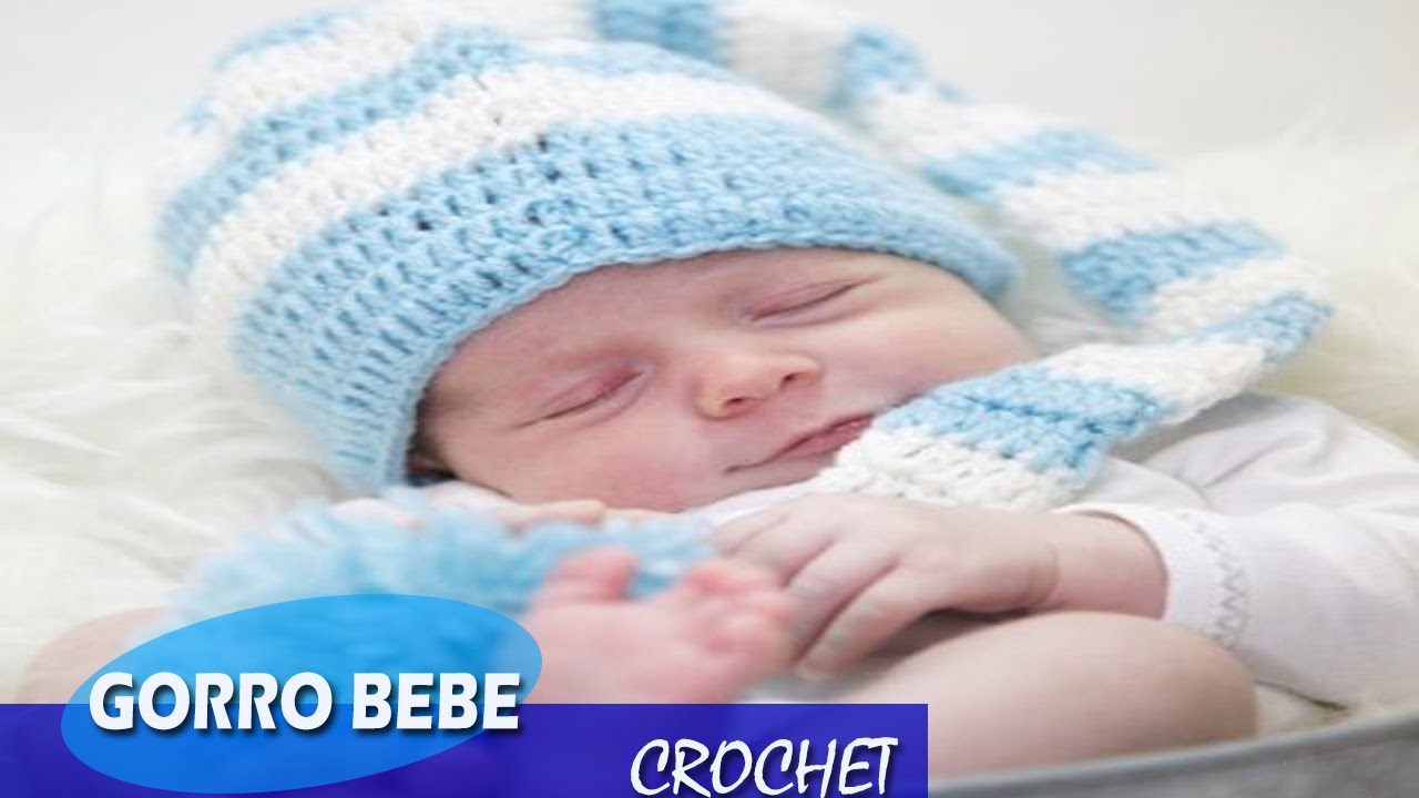 Gorro Bebe- tejido a Crochet ideas - YouTube