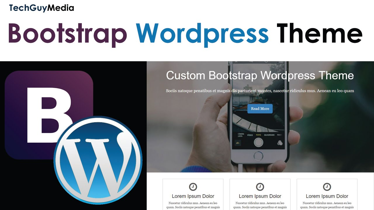 Wordpress Theme With Bootstrap [3] - Menu With Dropdown - YouTube