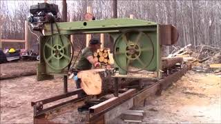 This Is The Largest Log I Have Milled With Our Homemade Bandsaw Mill