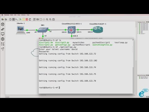 GNS3 Talks: Python for Network Engineers with GNS3 (Part 9) - Backup switch configurations.