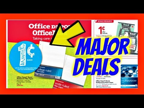 Shopping For 0.01 School Paper $1.00 Gel Pens Back To School Deals At OfficeMax / Office Depot 2017