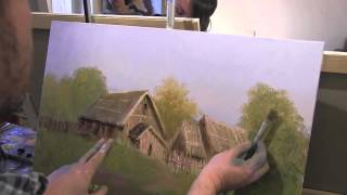 Уроки Игоря Сахарова , Деревня маслом, картина