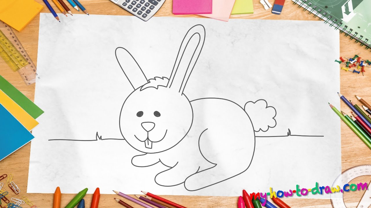 How To Draw A Rabbit  Easy Stepbystep Drawing Lessons For Kids  Youtube