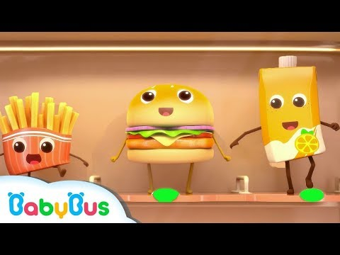 Hamburger And French Fries  Food Song Color Song  Nursery Rhymes  Kids Songs  BabyBus