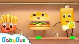 Hamburger And French Fries | Food Song, Color Song | Nursery Rhymes | Kids Songs | BabyBus thumbnail